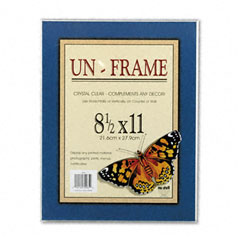 Nu-Dell 30085 Un-Frame Box Photo Frame, Plastic, 8-1/2 X 11, Clear