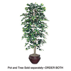 Nu-dell - artificial ficus tree, 6-ft. overall height, sold as 1 ea