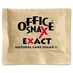 Office Snax 00063 Natural Cane Sugar, 2000 Packets/Carton