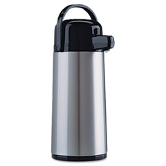 Coffee pro - direct brew/serve insulated airpot with carry handle, 2.2 l, stainless steel, sold as 1 ea