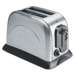 Coffee pro - 2-slice toaster with adjustable slot width, stainless steel, sold as 1 ea