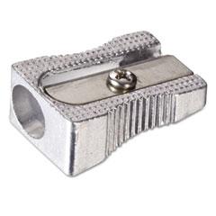 Officemate - metal pencil sharpener, metallic silver, 4/pack, sold as 1 pk
