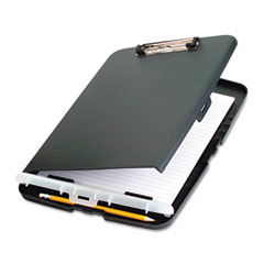 "Officemate 83303 Low Profile Storage Clipboard, 1/2"" Capacity, Holds 9W X 12H, Charcoal"