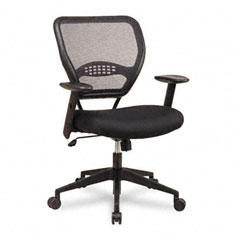 Office Star OSP5500 Air Grid Mid-Back Swivel Chair, Black, 20-1/2 x 19-1/2 x 42h