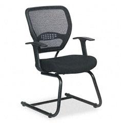 Space - air grid series guest chair, black, 26-1/2 x 26-1/2 x 37-1/4, sold as 1 ea