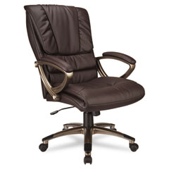 Office Star OSPECH67101EC1 Eco Leather High-Back Executive Swivel/Tilt Chair, Espresso/Cocoa