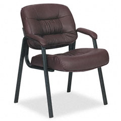 Office Star OSPEX81244 93 Series Leather Visitors Chair w/Loop Arms, Burgundy