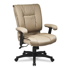 Office Star OSPEX93811 93 Series Executive Leather Mid-Back Swivel/Tilt Chair, Tan