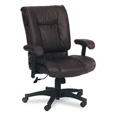 Office Star OSPEX93814 93 Series Executive Leather Mid-Back Swivel/Tilt Chair, Burgundy