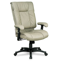 Office Star OSPEX93821 93 Series Executive Leather High-Back Swivel/Tilt Chair, Tan