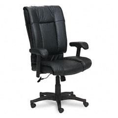 Office Star OSPEX93823 93 Series Executive Leather High-Back Swivel/Tilt Chair, Black