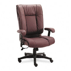 Office Star OSPEX93824 93 Series Executive Leather High-Back Swivel/Tilt Chair, Burgundy