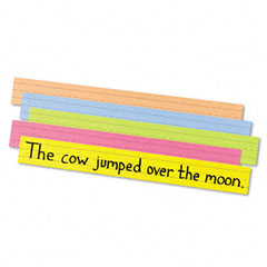 Pacon - sentence strips, 24 x 3, assorted bright colors, 100/pack, sold as 1 pk
