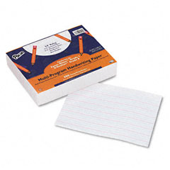 "Pacon 2420 Multi-Program Handwriting Paper, 5/8"" Long Rule, 10-1/2 X 8, White, 500 Shts/Pk"