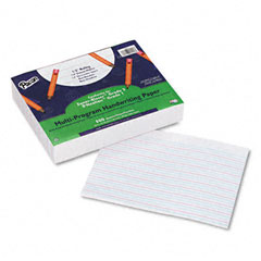 "Pacon 2421 Multi-Program Handwriting Paper, 1/2"" Long Rule, 10-1/2 X 8, White, 500 Shts/Pk"