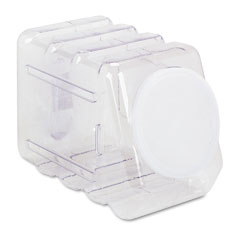 Pacon - interlocking storage container with lid, clear plastic, sold as 1 ea