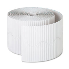 Pacon - bordette decorative border, 2 1/4-inch x 50' roll, white, sold as 1 rl