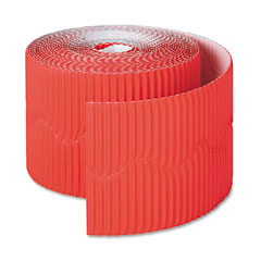 Pacon - bordette decorative border, 2 1/4-inch x 50' roll, flame red, sold as 1 rl
