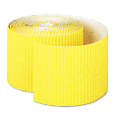 Pacon - bordette decorative border, 2 1/4-inch x 50' roll, canary, sold as 1 rl