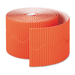 Pacon - bordette decorative border, 2 1/4-inch x 50' roll, orange, sold as 1 rl