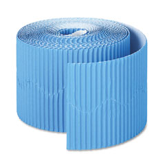 Pacon - bordette decorative border, 2 1/4-inch x 50' roll, brite blue, sold as 1 rl