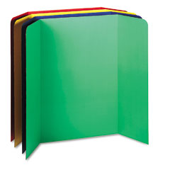 Pacon - spotlight corrugated presentation display boards, 48 x 36, assorted, 4/carton, sold as 1 ct