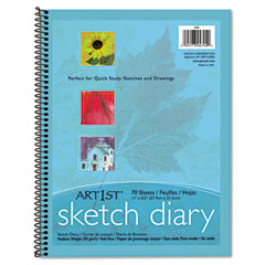 Pacon - art 1st sketch diary, 11 x 8 1/2, 60 lb, 70 sheets, white, sold as 1 ea