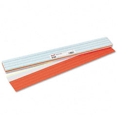 Pacon - sentence strips, 24 x 3, assorted colors, 100/pack, sold as 1 pk