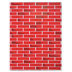 Pacon - fadeless designs bulletin board paper, brick, 50 ft x 48-inch, sold as 1 rl