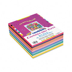 Pacon - rainbow super value construction paper ream, 76 lb, 9 x 12, assorted, 500 sheets, sold as 1 rm