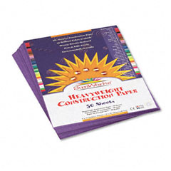 Pacon 7203 Construction Paper, 58 Lbs., 9 X 12, Violet, 50 Sheets/Pack