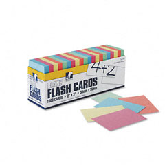 Pacon - blank flash card dispenser boxes, 2w x 3h, assorted, 1000/pack, sold as 1 pk