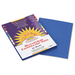 Pacon 7503 Construction Paper, 58 Lbs., 9 X 12, Bright Blue, 50 Sheets/Pack