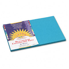 Sunworks - construction paper, 58 lbs., 12 x 18, turquoise, 50 sheets/pack, sold as 1 pk