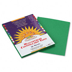Sunworks - construction paper, 58 lbs., 9 x 12, holiday green, 50 sheets/pack, sold as 1 pk