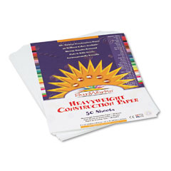 Sunworks - construction paper, 58 lbs., 9 x 12, bright white, 50 sheets/pack, sold as 1 pk