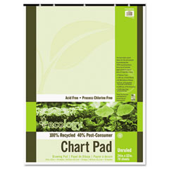 Pacon 945510 S.A.V.E Recycled Chart Pads, Unruled, 24 X 32, White, 70 Sheets