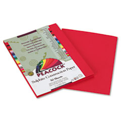 Pacon 103008 Tru-Ray Construction Paper, 76 Lbs., 9 X 12, Scarlet, 50 Sheets/Pack