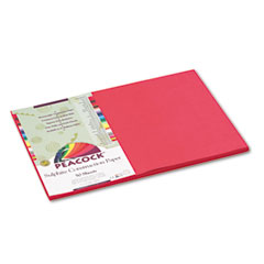 Pacon 103040 Tru-Ray Construction Paper, 76 Lbs., 12 X 18, Scarlet, 50 Sheets/Pack