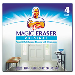Procter & Gamble PAG43516 Magic Eraser Foam Pad, 3 x 3, White, 4/Box