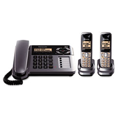 Panasonic PANKXTG1062M Digital Corded/Cordless Answering System, 2 Handsets