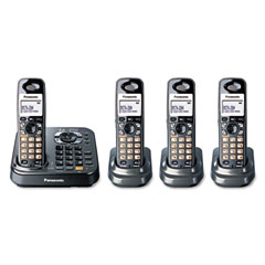 Panasonic PANKXTG9344T DECT 6.0 Expandable Cordless Phone System w/Four Handsets & Digital TAM