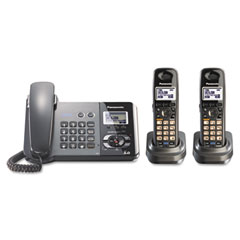 Panasonic PANKXTG9392T Digital Corded/Cordless Answering System, 2 Handsets