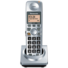 Panasonic PANKXTGA101S Additional Handset for DECT 6.0 Digital Phone System, Cordless, Silver