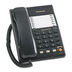 Panasonic PANKXTS105B Desk/Wall Telephone w/Speakerphone in Base, Corded, Black