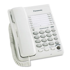 Panasonic PANKXTS105W Desk/Wall Telephone w/Speakerphone in Base, Corded, White