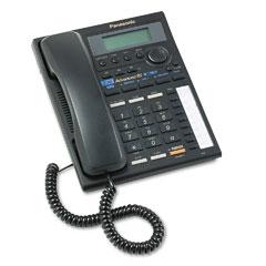 Panasonic PANKXTS3282B Intercom Speakerphone w/Caller ID, Corded, Two Lines, Black
