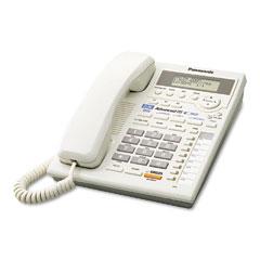 Panasonic PANKXTS3282W Intercom Speakerphone w/Caller ID, Corded, Two Lines, White