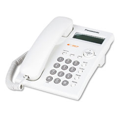 Panasonic PANKXTSC11W One-Line Desk/Wall Phone, Corded, White