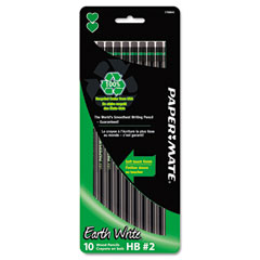 Papermate 1750843 Earth Write Woodcase Pencil, Hb #2, Black, 10/Pack